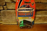 NIB 2003 Matchbox Hero City #60 Auto Shuttle Green Flat bed #B5372-0814