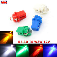 12V T5 B8.3D W3W LED coche cúpula Interior Bombillas De Luz Lateral Panel del tablero de instrumentos