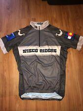 Mt Borah Cycling Jersey Wisco Riders Mens Medium Wisconsin Colorado