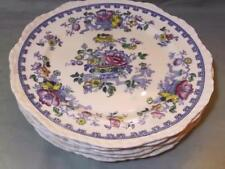"5 Masons Ironstone Blue Floral Dinner Plates 10¾"" Pattern 5101"
