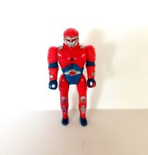 Vintage Red Robot Android Action Figure 80's 90's Cartoon Saturdy Morning VUB02