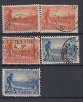Australia 1934 2d/3d Collection SG147/147a/148/148a Fine Used J1589