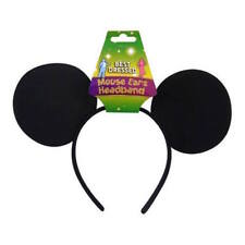 ** BLACK SOFT EARS MICKEY MOUSE HEADBAND CHILDRENS ADULT FANCY DRESS NEW **