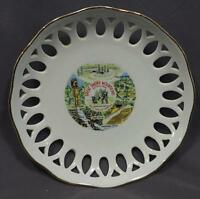 Vintage Great Smoky Mountains Filigreed Souvenir Collectors Plate