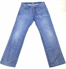 Seven 7 For All ManKind Mens Jeans Austyn Stone Washed 100% Cotton Size 32
