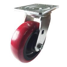 "6"" x 2"" Heavy Duty ""Polyurethane Wheel"" Caster - Swivel"