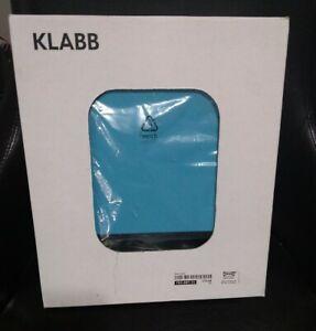 IKEA KLABB LAMP Aluminum RECTANGULAR Pear Shape Teal Shade 40W E12 17118 New