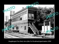 OLD HISTORIC PHOTO OF POUGHKEEPSIE NEW YORK, No 58 RAILROAD SIGNAL TOWER c1950