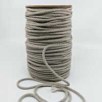 Braided Cotton Cord - Taupe gray 80B 144 Yard spool draw string rope Aprox 3/16""