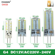 G4 G9 Silicone Crystal LED Corn Light Bulb 5W 9W 10W 12W 3014 SMD 110V 220V Lamp