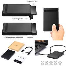 """EXTERNAL HARD DRIVE Case 2TB USB 3.0 Enclosure 2.5"""" Portable BACKUP HDD Sata SSD"""