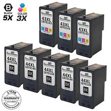 8pk for Lexmark 44XL 43XL 18Y0144 18Y0143 Black & Color Ink Cartridge 1520 X7550