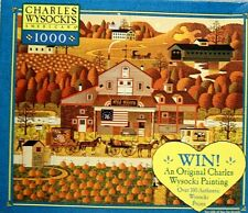 "Charles Wysocki Art ""Old Glory Farms"" 1000 Piece MBJigsaw Puzzle"
