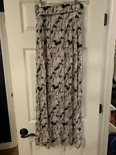 Cynthia Rowley Maxi Skirt Pink And Black Medium, Women's Long Skirt