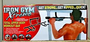 IRON GYM XTREME TOTAL UPPER BODY WORKOUT PULL UPS SIT UPS PUSH UPS FITNESS BAR