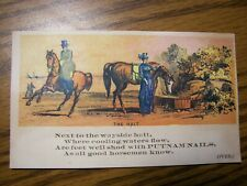 Victorian Trade Card Pre1900 Putnam Nails. Boston. Horse Owners