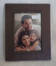 """Prinz Wooden Picture Frame Brown Accents Holds 5"""" x 7"""" Photo New"""