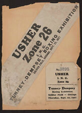 JACK DEMPSEY VS GENE TUNNEY 1927 USHER TICKET AMAZING!