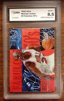 Michael Jordan Fleer Ultra Fabulous Fifties 1995 - 1996 Basketball Card GMA 8.5