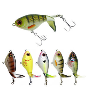 5x Whopper Popper Topwater Bass Fishing Lures SpinnerbaitsTrout Pike 75mm/17g