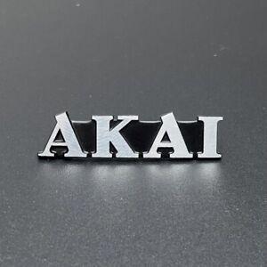 Vintage Akai Badge Nameplate Logo Emblem Electronics TV Speaker VCR Radio