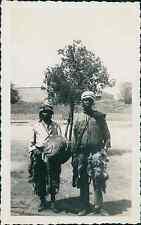 Algérie, Biskra, Danseurs Tradionnels Africain  Vintage silver print, Provenant