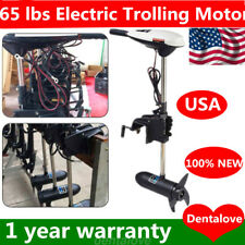 65 lbs Electric Trolling Motor Inflatable Boat Fishing Marine Outboard Engine US