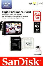 SanDisk 64GB High Endurance microSD SDXC Memory Card Surveillance CCTV Dash Cam