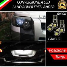 LUCI POSIZIONE A LED + LUCI TARGA A LED CANBUS LAND ROVER FREELANDER NO ERROR