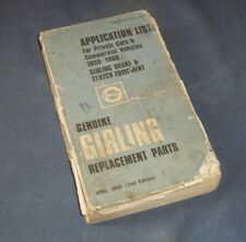 Girling Parts List G247/2 - Car and Commercial 1959 to 68 - Scruffy but complete