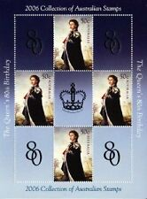2006 QUEEN'S 80TH BIRTHDAY AUSTRALIAN STAMP SHEET