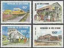 Timbres Trains Cote d'Ivoire 540/3 ** lot 6565