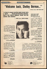 SHELLEY BERMAN__Original 1980 Trade AD promo / poster__one-man show__comedian