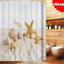 180x180cm Bathroom Shell Starfish Beach Shower Curtain Waterproof Bath 12