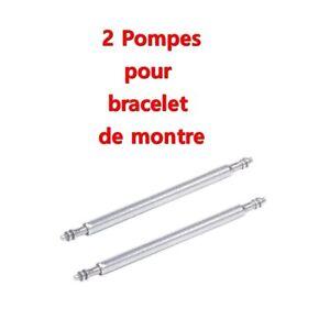 2 entre cornes barrettes ressort pompe tige piston bracelet de montre 8 à 25mm
