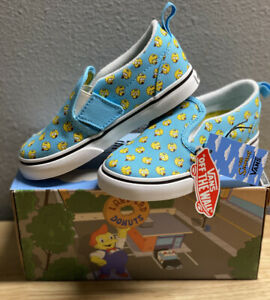 Vans X Simpsons The Simpson's Maggie Slip-on V Toddler Size 9.5T In Hand New!!