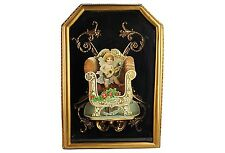Antique Victorian Pop-Up Cupid Valentine In A Shadow Box