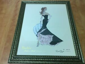 """Robert Best BARBIE Collection Framed Signed Print 3163 of 5000 overall 19"""" x 23"""""""