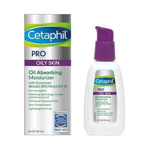 Cetaphil Pro Dermacontrol Oil Absorbing Face Moisturizer, For Oily Skin, 4 Fl Oz