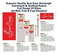 Sew Easy Rectangle Patchwork Ruler Measure Quilter Craft Home All Sizes & Styles