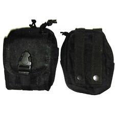 TAS 1204 Black Multi Use MOLLE Pouch Dual Zip Pouch Military 900 Denier13x16x8cm