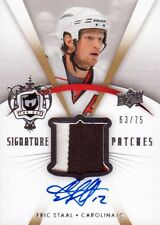 07-08 The Cup SIGNATURE PATCH xx/75 Made! Eric STAAL - Hurricanes