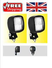 "100mm SQUARE 4x4"" HALOGEN H3 CAR SPOT LAMP WORK REVERSE BAR LIGHT TRACTOR LIGHT"