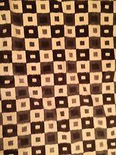 NOBILIS Zinda Ikat squares velvet viscose cotton brown grey  2+ yds new