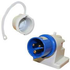 Caravan Mains 240v Inlet Surface Mounted Plug Angled Motorhome 16A Free Delivery