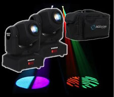 2 x Equinox Fusion Spot MKII LED Moving Head Effetto Di Illuminazione DMX DJ Discoteca Tasca