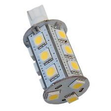 HQRP Bombilla LED Base T10 18 LEDs Blanca cálida para Luz profesional de paisaje
