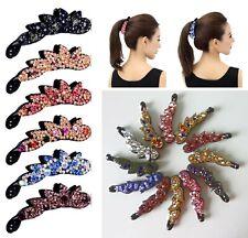 Kristall Kunststoff Banane Haarspangen für Frauen Doppelpack