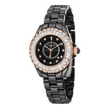 Stuhrling 530S2 114OB1 Glamour III Crystal Accents Ceramic Bracelet Womens Watch