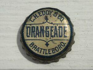 Vintage Used Cork Lined CH Eddy & Co Brattleboro VT Orangeade Soda Bottle Cap